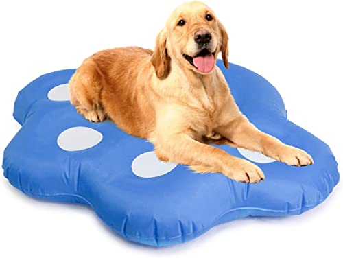 Milliard-Dog-Pool-Float-Inflatable-Ride-On-Puppy-Paw-Raft-for-Pets-Swimming