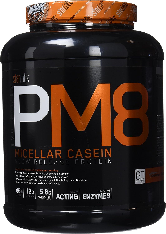 Starlabs nutrition pm8, 100% caseína micelar - 1800gr. micellar casein