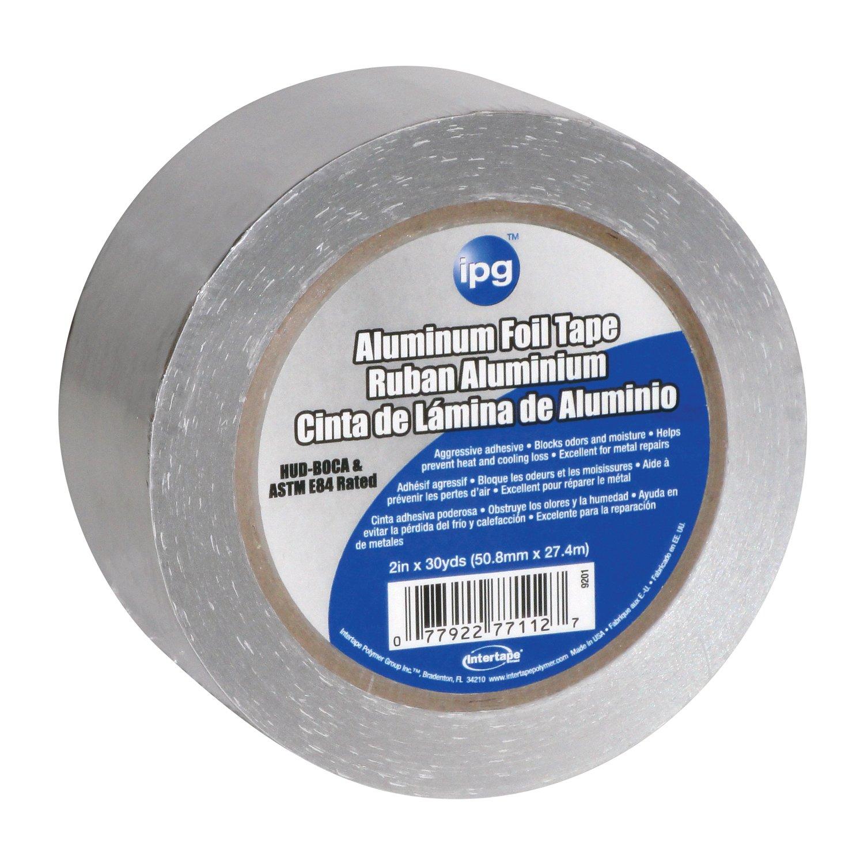 Intertape Polymer Group 9201 Foil Tape, 1.5mil,  2-Inch x 30-Yard, Aluminum