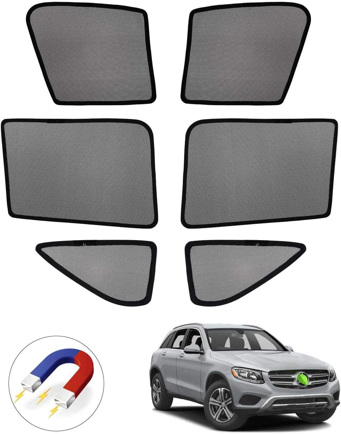 Mixsuper Car Window Shade Sun Protection Glare and UV Visor for Mercedes-Benz GLC-Class X205 GLC300 GLC350e GLC43 GLC63 SUV 2016-2020 Folding Side Window Sunshade Keeps Your Vehicle Cool 4 PCS