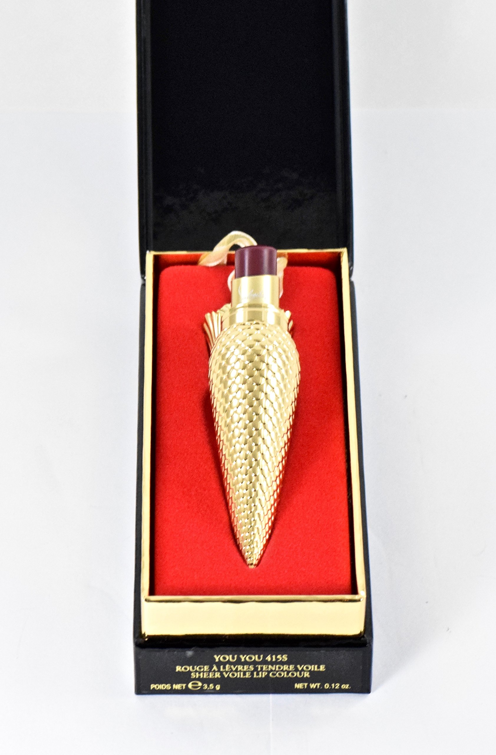 Christian Louboutin Sheer Voile Lip Colour Lipstick - You You 415S - Full Size