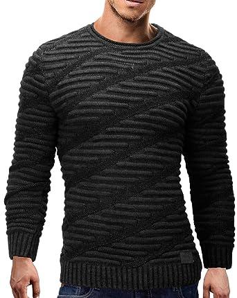 MERISH Herren Strickpullover Rundhals Slim Fit Herren Modell s727:  Amazon.de: Bekleidung