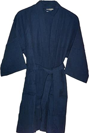Image Unavailable. Image not available for. Color  Cotton Waffle Bathrobes  Navy Blue Monogrammed Gifts a3f3d5fb8