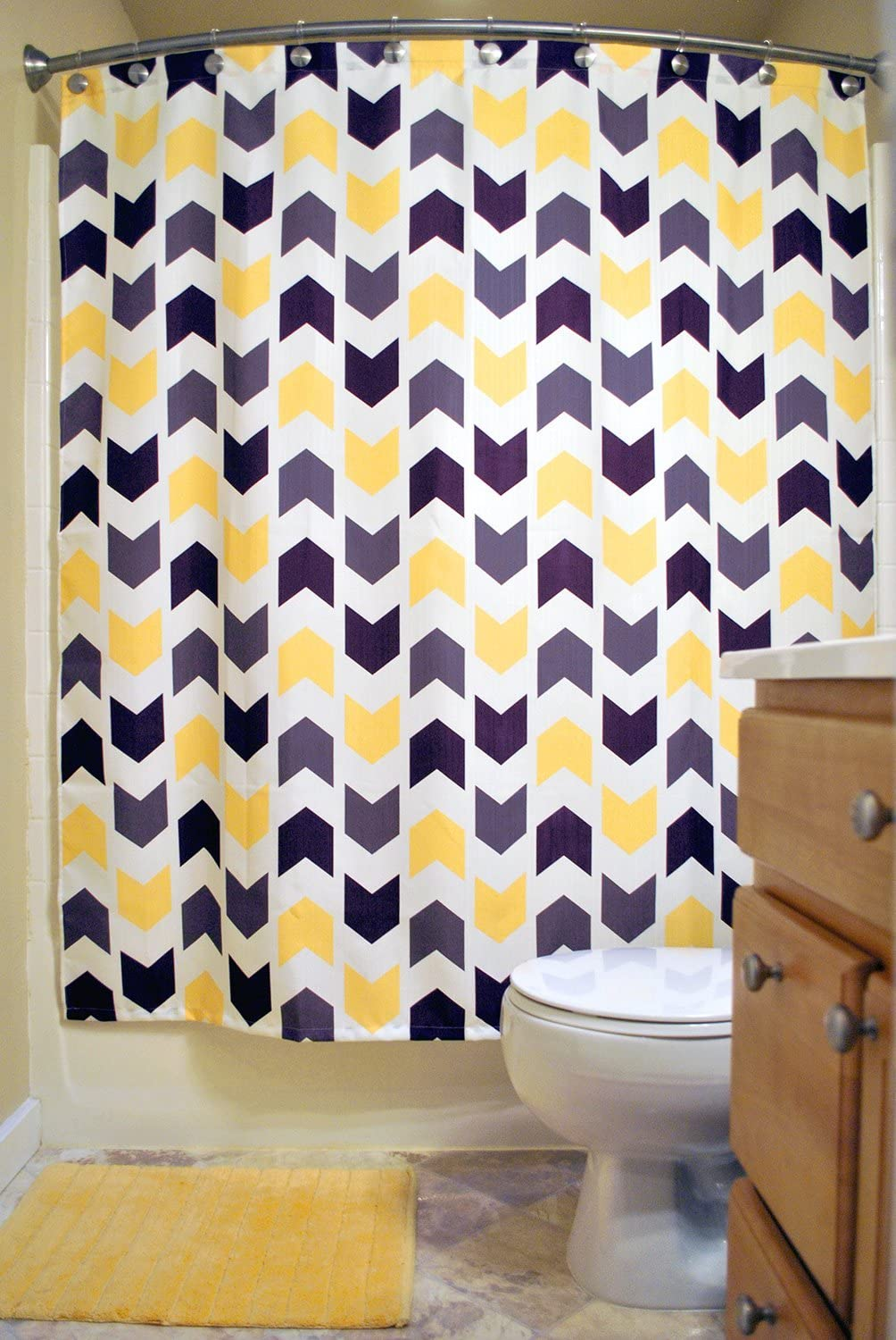 DII Oceanique Shower Curtain 100/% Polyester Main Bathroom 72 x 72 Machine Washable Kids Multi Colored Tribal Chevron Extra Bathroom for Everyday Use Teens