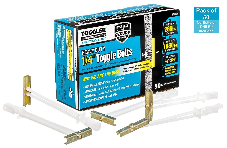 "Toggler Snaptoggle 50 Pack 1//4/""-20/"" BA Toggle Bolt"