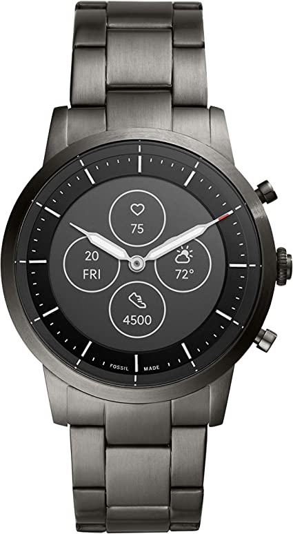 6 Fossil Men S Collider Hybrid Smartwatch Hr With Always On Readout Display Heart Rate Activity Tracking