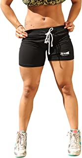 product image for Physique Bodyware Womens Football Style Yoga/Fitness Shorts. Made in USA
