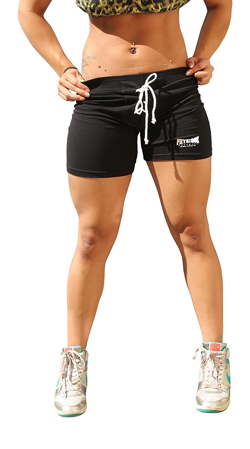 Physique Bodyware Womens Football Style Yoga Fitness Shorts. Made In USA at  Amazon Women s Clothing store  caab32c7a3