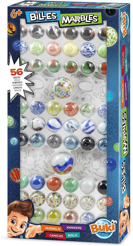 Buki France- Caja de Canicas, Color (PM856) , color/modelo surtido