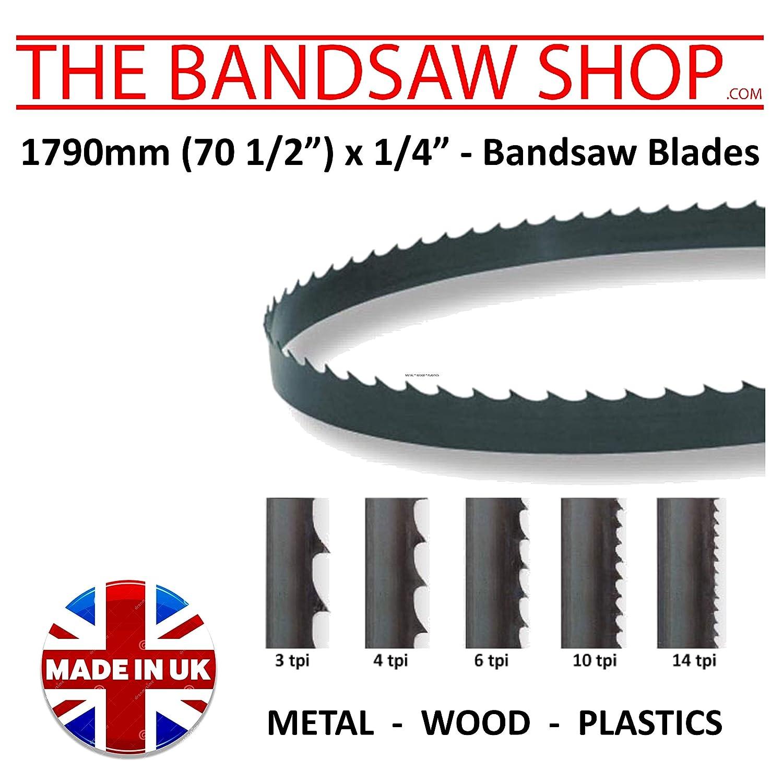 1790mm 6mm 70 1//2 6mm x 1//4 1790mm x 1//4 70 1//2 Wide Wood Cutting Bandsaw Blades 4 TPI
