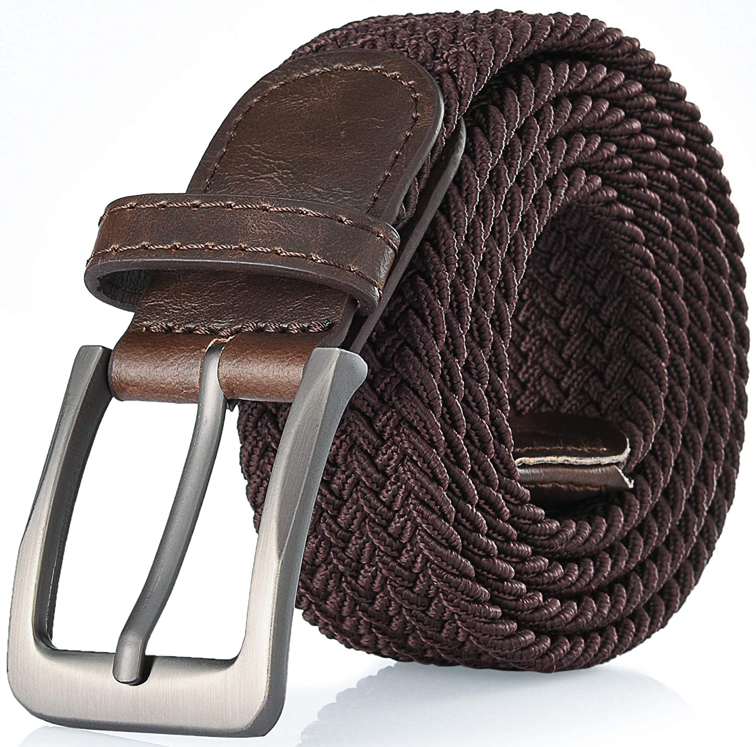 Gallery Seven Woven Elastic Braided Belt For Men - Fabric Stretch Casual Belt