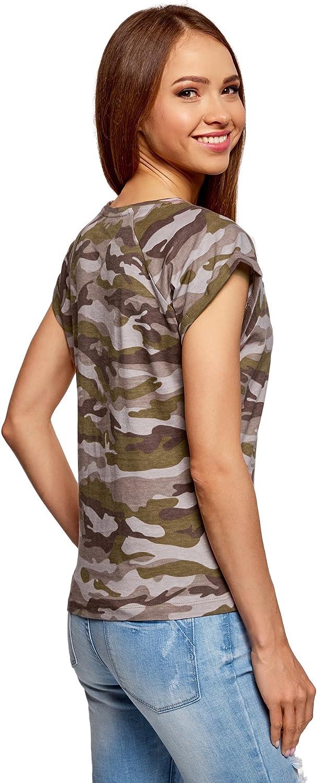 oodji Ultra Womens Printed Cotton T-Shirt