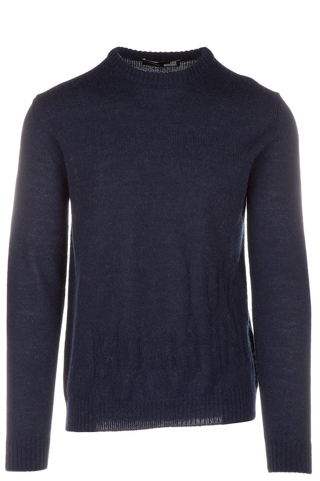 Love Moschino Men's Crew Neck Neckline Jumper Sweater Pullover Blu US Size M (US M) M S 6U4 00 X 1059 Y9