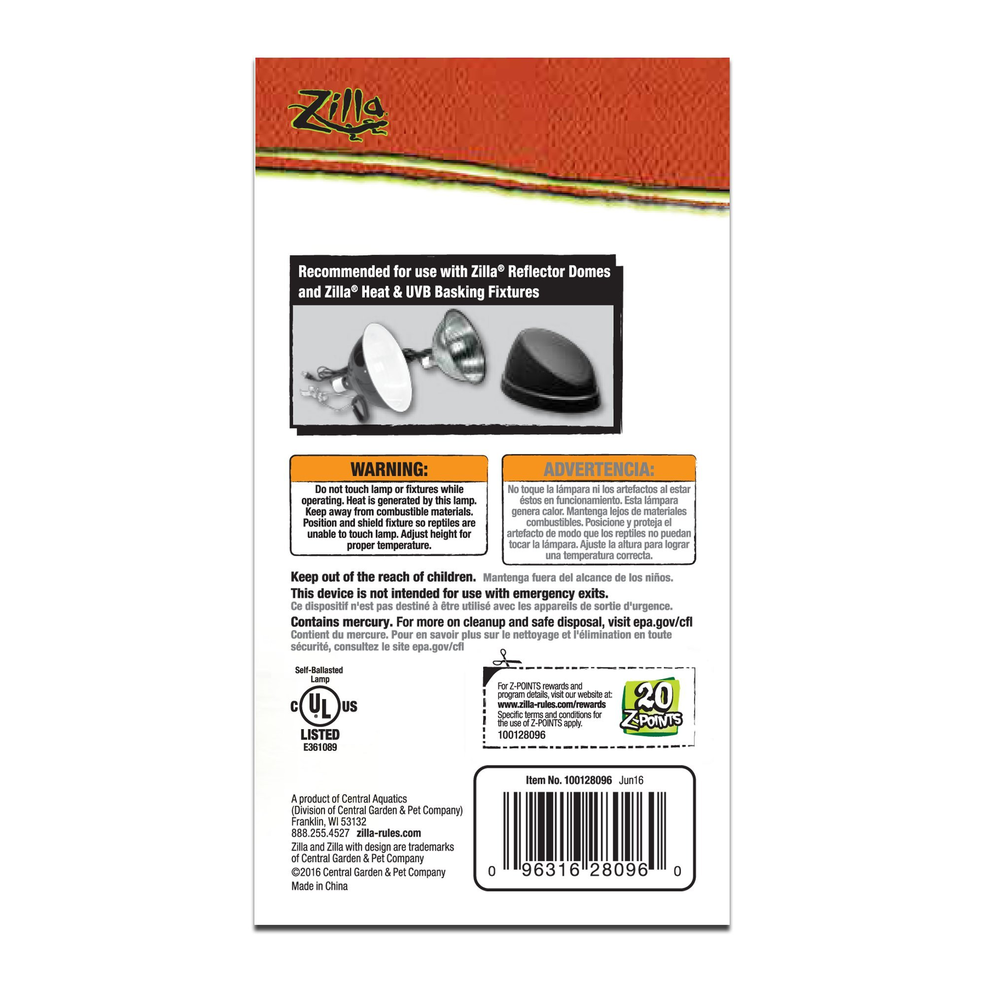 Zilla Desert Fluorescent UVB/UVA Bulb, 20 Watt, 3.875 IN by Zilla (Image #2)