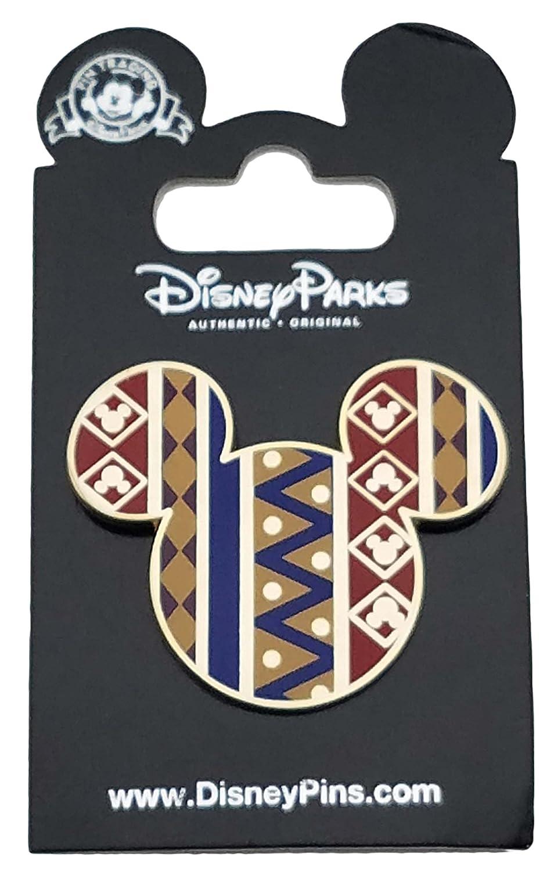 Disney Pin - Mickey Icon African Pattern