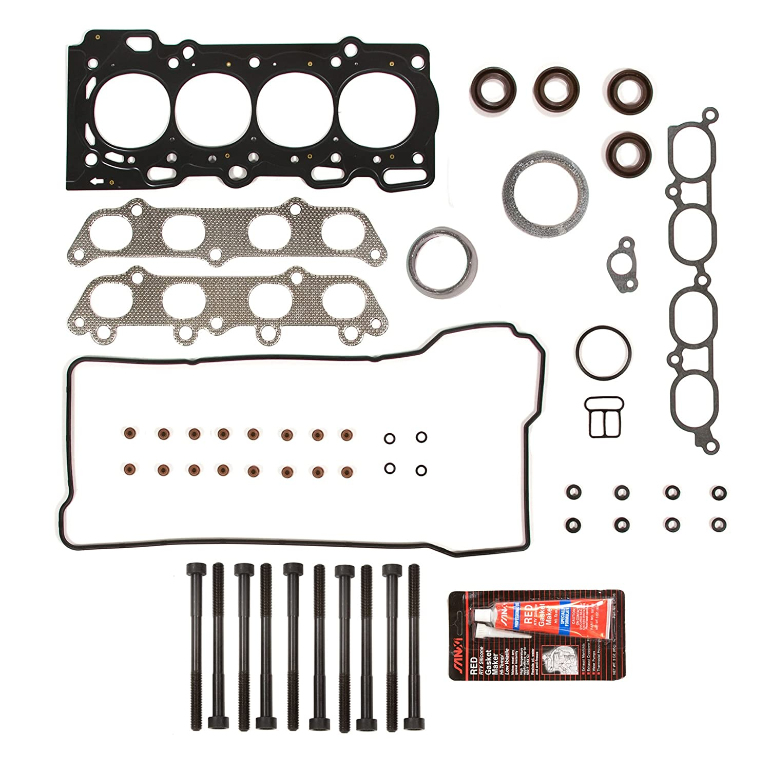 Evergreen HSHB2042 Cylinder Head Gasket Set Head Bolt