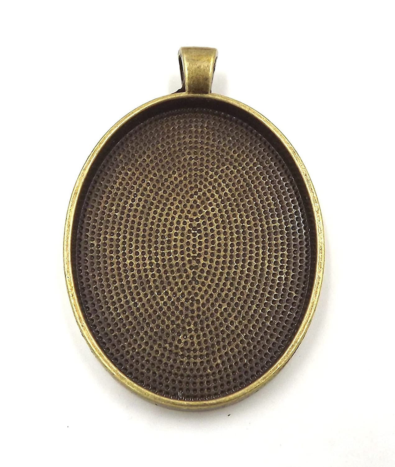Antique Copper Color Blanks Bezel Setting 30x40mm 20 Oval Pendant Trays