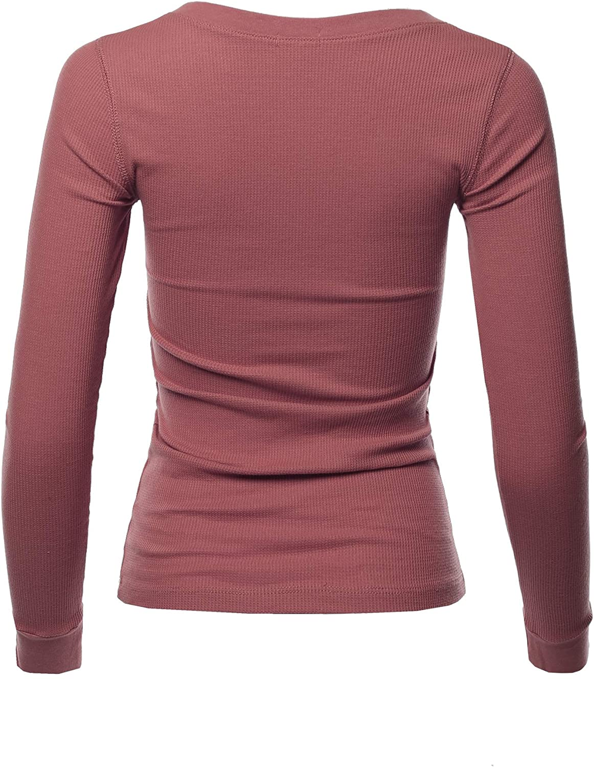 A2Y Womens Basic Solid Long Sleeve Crew Neck Fitted Thermal Top Shirt