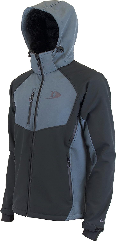 黒fishゼニスdry-tex Softshell釣りジャケット チャコールグレー Large