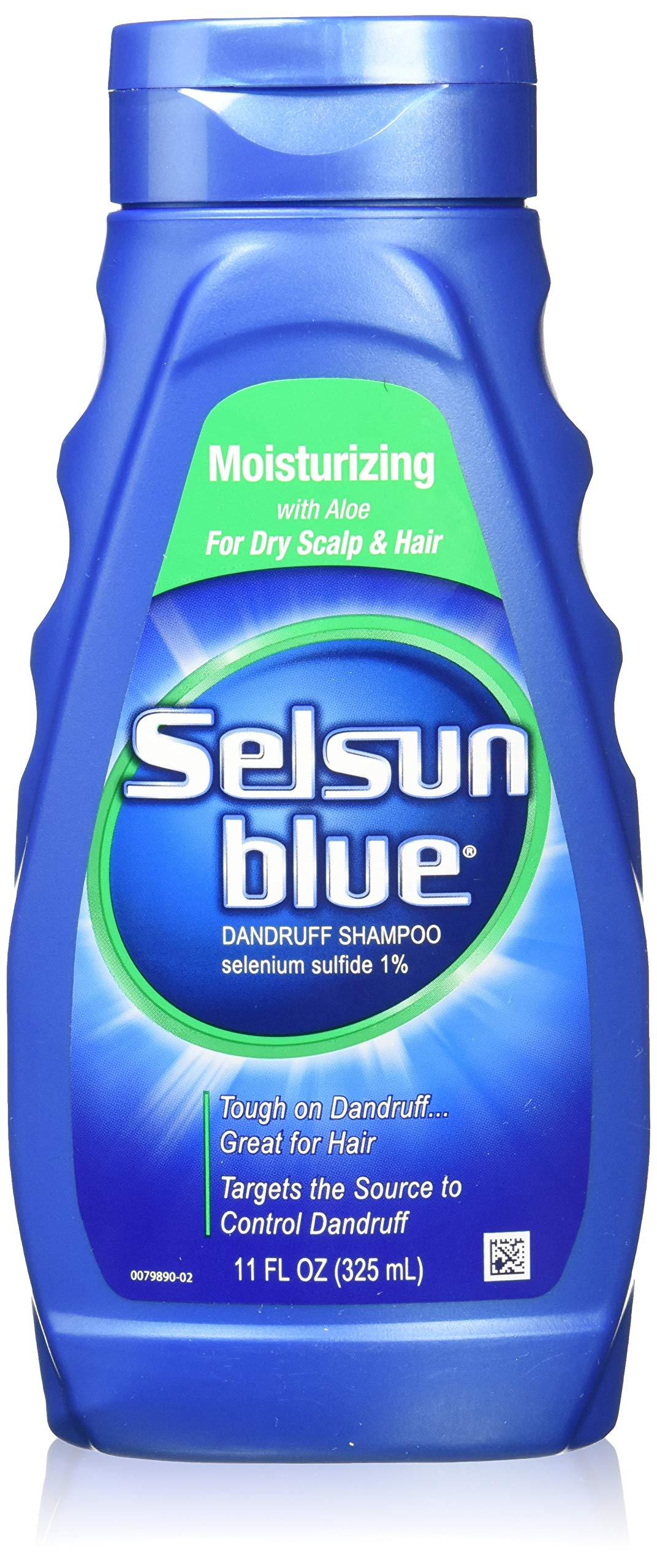 Selsun Blue Moisturizing with Aloe Dandruff Shampoo 11 oz (Pack of 2) by Selsun Blue