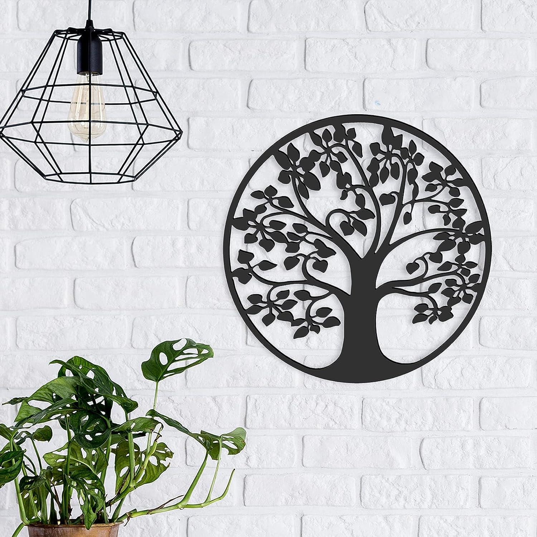 Tree Life Metal Wall Art, Tree Life Wall Decor, Tree Life Metal Wall Plaque, Metal Tree Hanging Decor, Metal Tree Artwork Decoration for Home Bedroom Living Room Kitchen