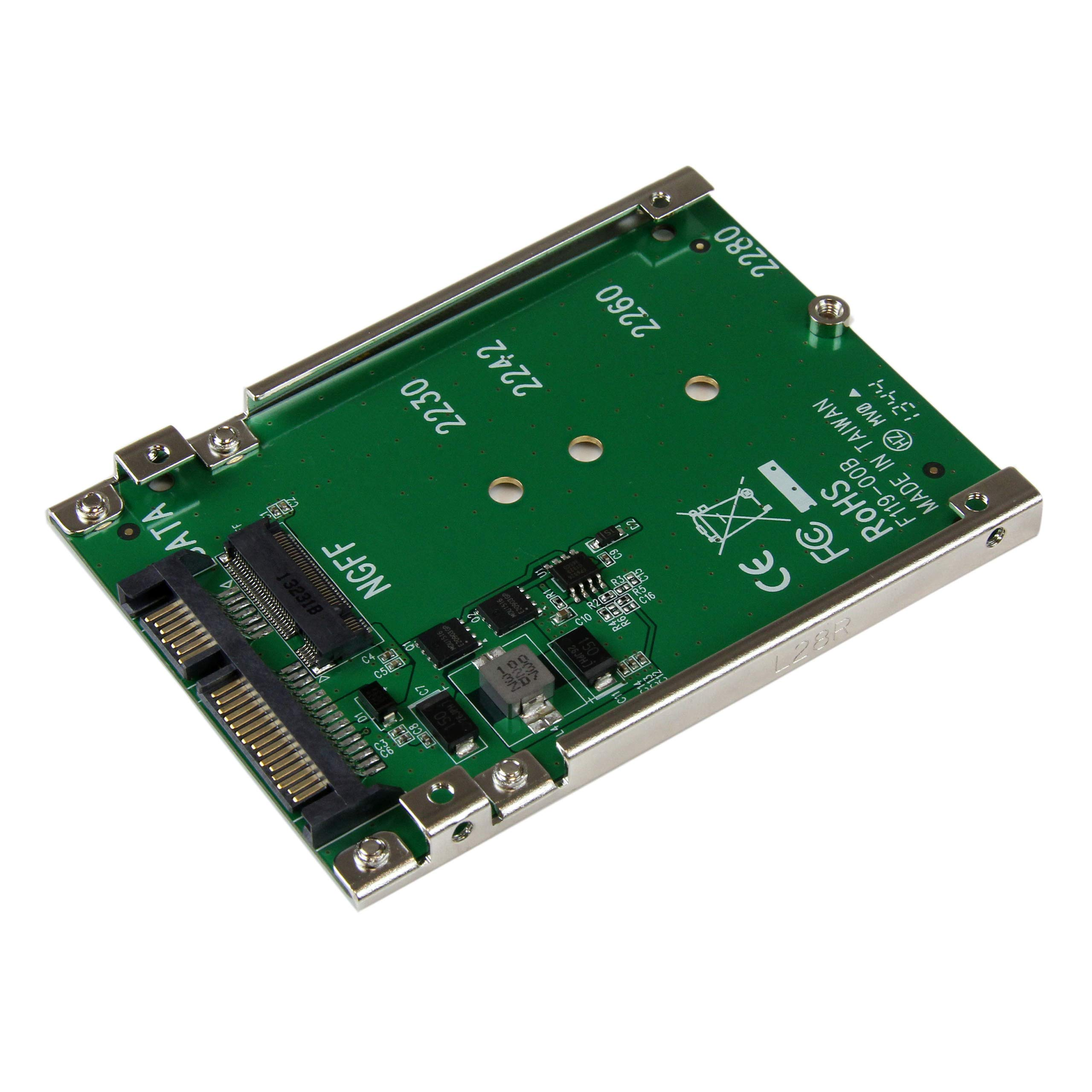 StarTech.com M.2 SSD to 2.5in SATA Adapter - M.2 NGFF to SATA Converter - 7mm - Open-Frame Bracket - M2 Hard Drive Adapter (SAT32M225) by StarTech