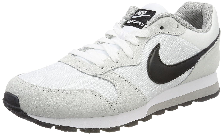 Nike Wmns MD Runner 2, Zapatillas de Gimnasia para Mujer 42.5 EU|Multicolor (White/Black-wolf Grey 100)