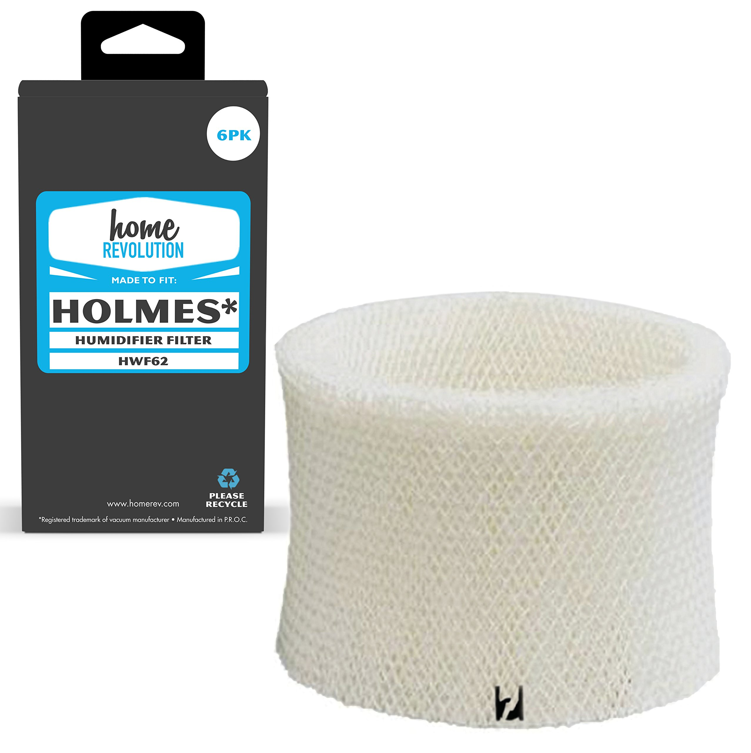 Home Revolution 6 Replacement Humidifier Filters, Fits Part HWF62 Filter A & Holmes, Honeywell, Sunbeam and Vicks Humidifiers