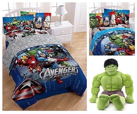 Marvel Avengers Complete Full Size Bedding Comforter Set With Hulk