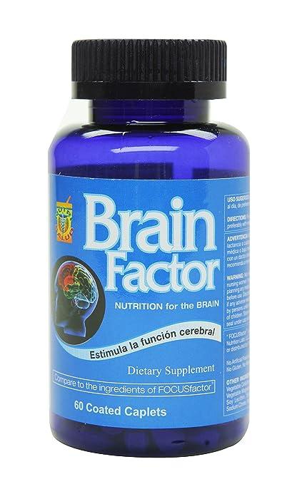 Brain Factor Vitaminas para el cerebro, mejoran la concentracion, enfoque y memoria. Aumente