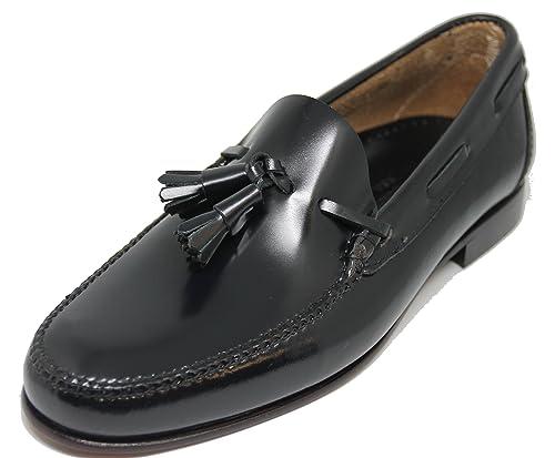 John Coleman Zapato Mocasín Estilo Castellano con Borlas EN Cuero Color Azul Marino: Amazon.es: Zapatos y complementos