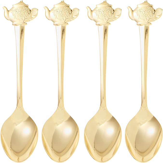 HIC gold plated rose 4.5 inch demi spoon Harold import company