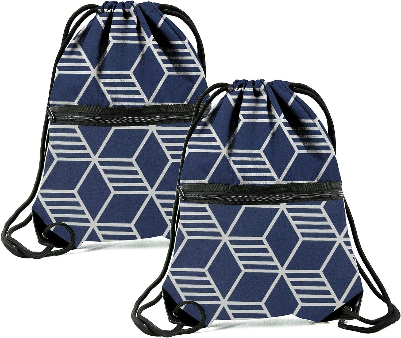 Drawstring Backpack Mens Boys Football Prrint Bags Sport Gym Swim Shoulder Bags