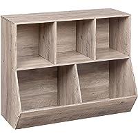 HOOBRO Kids Bookshelf, Bookcase Footboard, Toy Storage Cubby, Children's Toy Shelf, Toy Storage Cabinet, Suitable for…