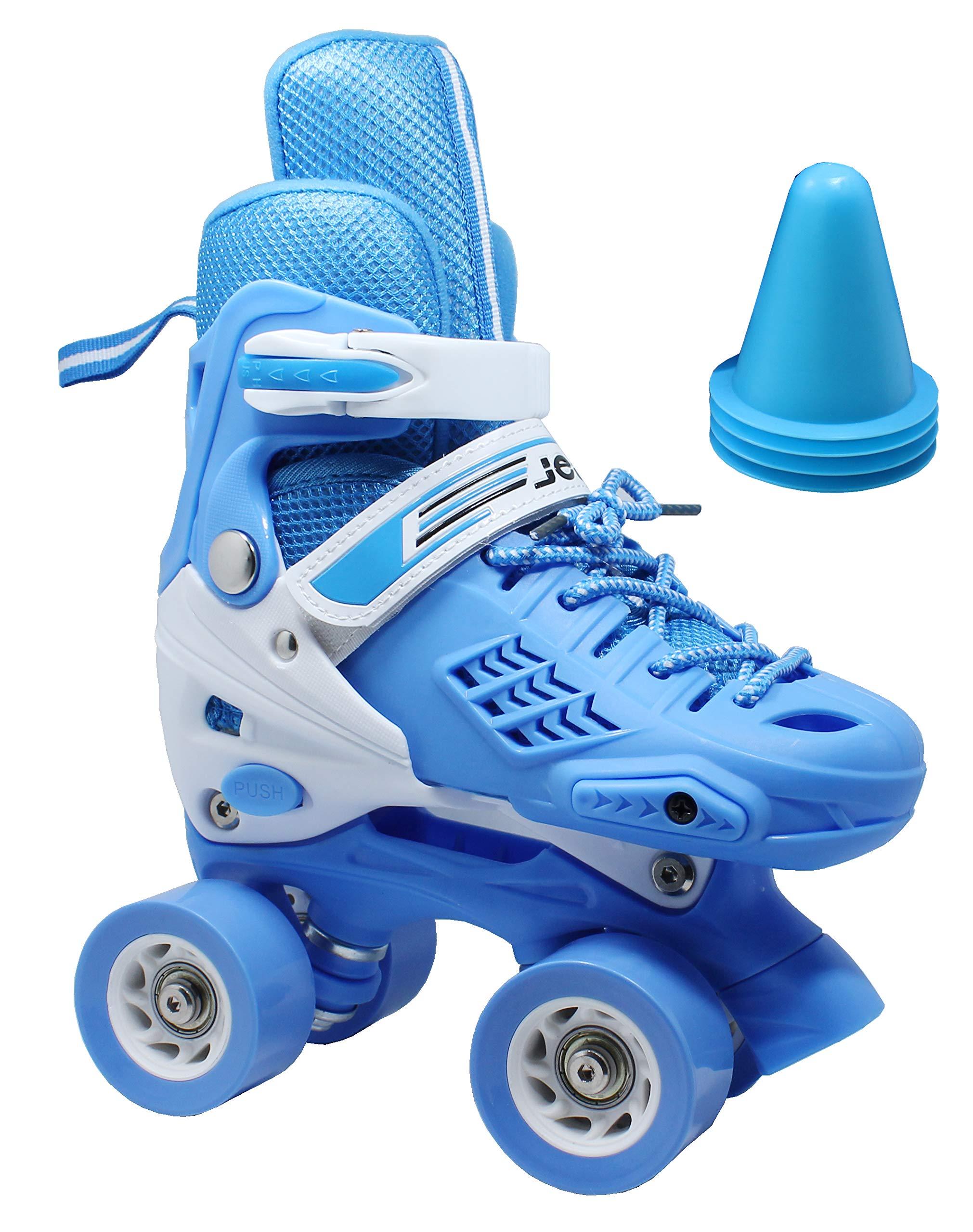 WiiSHAM Adjustable Children's Roller Skates with Four Piles by WiiSHAM