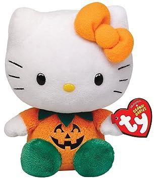 Ty Beanie Hello Kitty - Muñeca, diseño de calabaza de Halloween