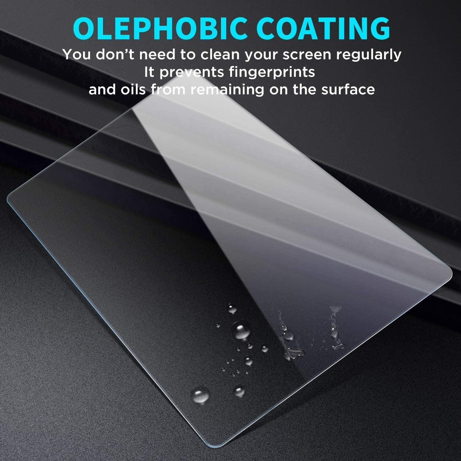 MBSIX Tempered Glass Screen Protector Compatiple with 2020 Tacoma CHR Corolla 8 Inch Touch Screen,HD Clear,Scratch-Resistant,Anti Glare,Protecting Toyota 8 Inch Screen