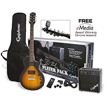 Packs guitarra Epiphone Les Paul Player Pack UK-240 V Packs guitarra eléctrica
