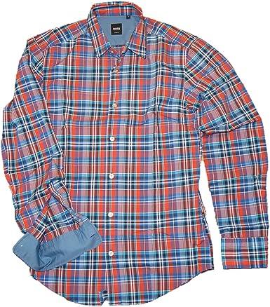 HUGO BOSS Camisa de algodón a cuadros ajustada Ronny color ...