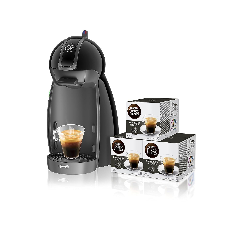 B - Cafetera de cápsulas, 15 bares de presión, color negro + 3 packs de café Dolce Gusto Con Leche: Amazon.es: Hogar