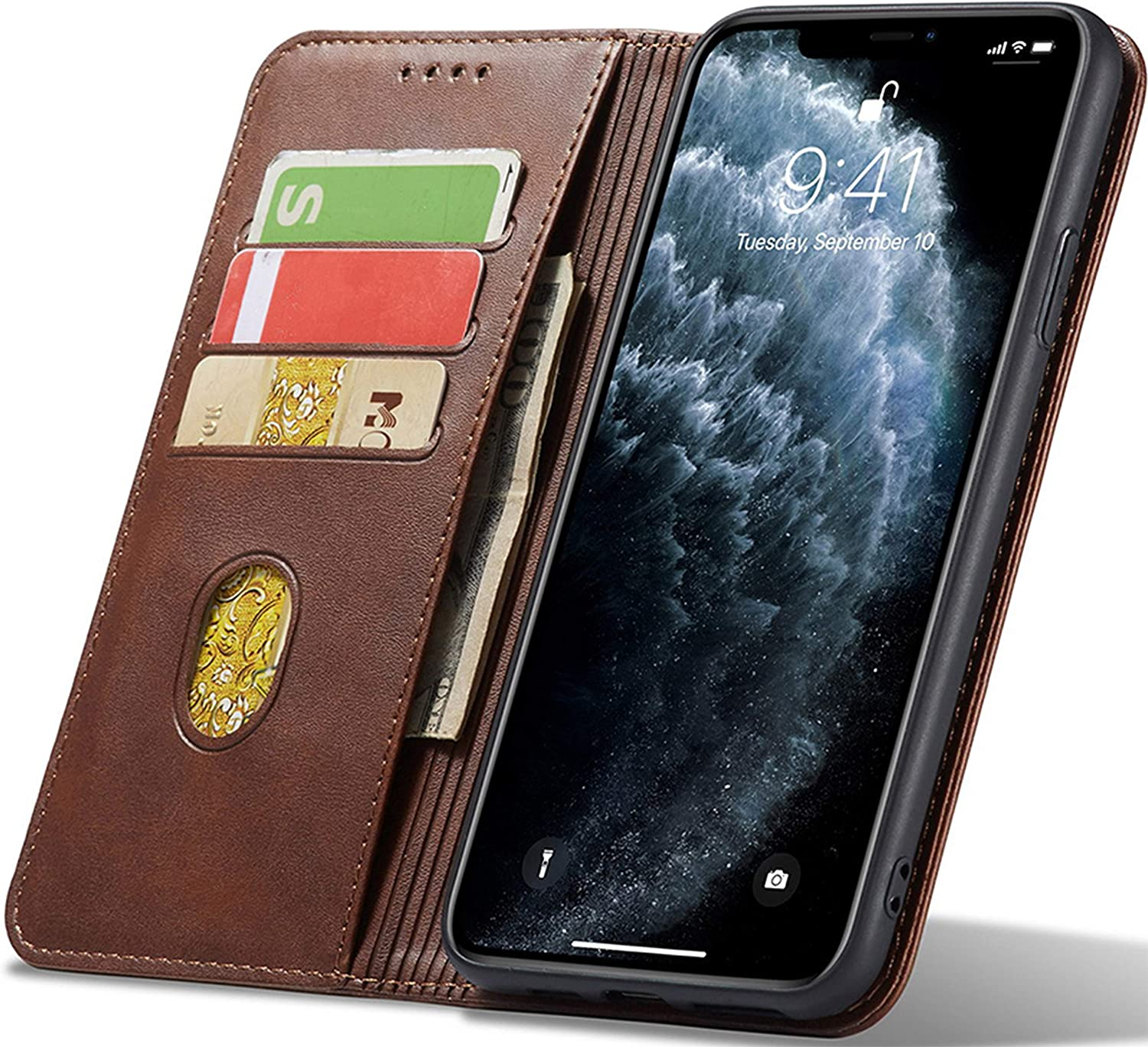 PhoneHeaven Leather Series Mobile Phone Case for iPhone 7 Plus & 8 Plus (Protective & Durable) - Brown