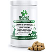 Doggie Dailies Glucosamine for Dogs, 225 Soft Chews, Advanced Hip and Joint Supplement for Dogs with Glucosamine…