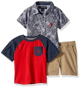 U.S. Polo Assn. Boys Sleeve Sport, T-Shirt, and Short Set: Amazon ...