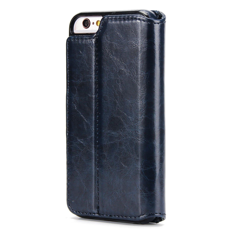 UEEBAI Funda para iPhone 6 Plus 6S Plus,funda de piel Folio Premium con Funda con tapa para iPhone 6 Plus//6S Plus rojo Ranura para tarjeta extra/íble Funci/ón de bloqueo magn/ético