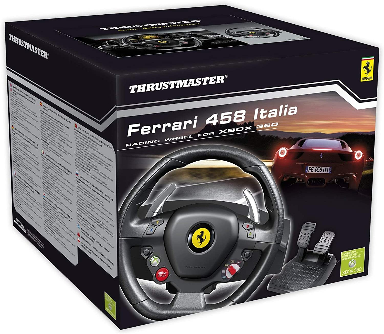 Thrustmaster Ferrari 458 Italia Lenkrad Inkl 2 Pedalset Xbox 360 Pc Amazon De Games