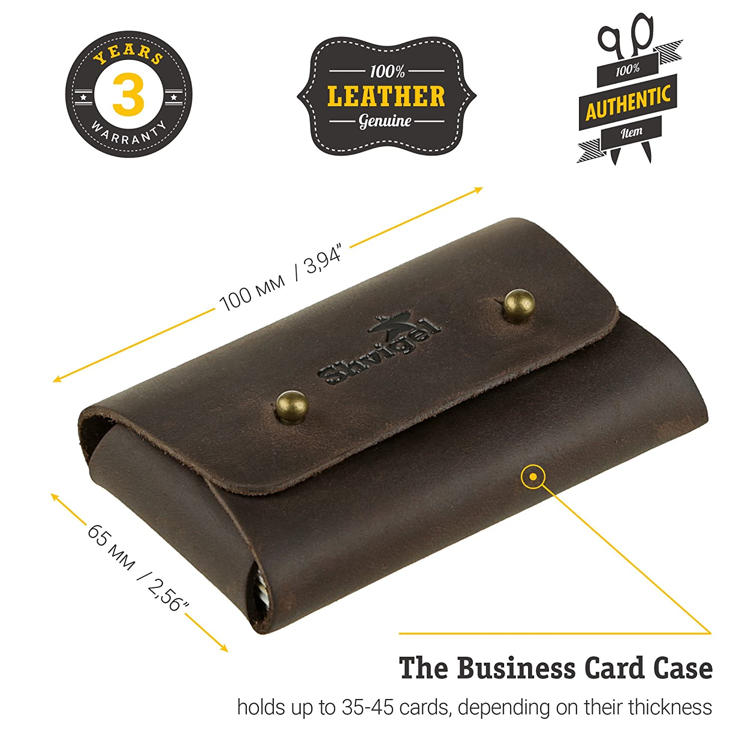 Amazon Shvigel Business Card Holder Leather Visiting Card