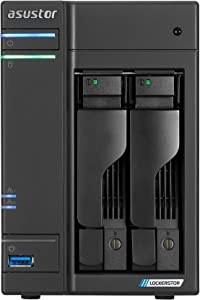 Asustor Lockerstor 2   AS6602T   Network Attached Storage   2.0GHz Quad-Core, Two 2.5GbE Port, Two M.2 Slot for NVMe SSD Cache, Three 3.2USB Port, 4GB RAM DDR4, HDMI2.0a Output (2 Bay Diskless NAS)