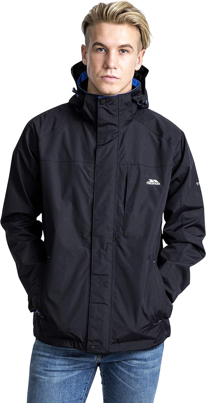 Trespass Mens Edwards II Waterproof Rain//Outdoor Jacket with Concealed Hood