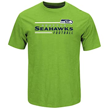 timeless design 809c4 8a639 Majestic Seattle Seahawks Line Scrimmage Bright Green T-shirt
