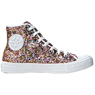 b3a81002c2c59 Converse Chucks Pailletten Sequins Silber Gold Größe  EU  39 UK  6 Limited  Edition